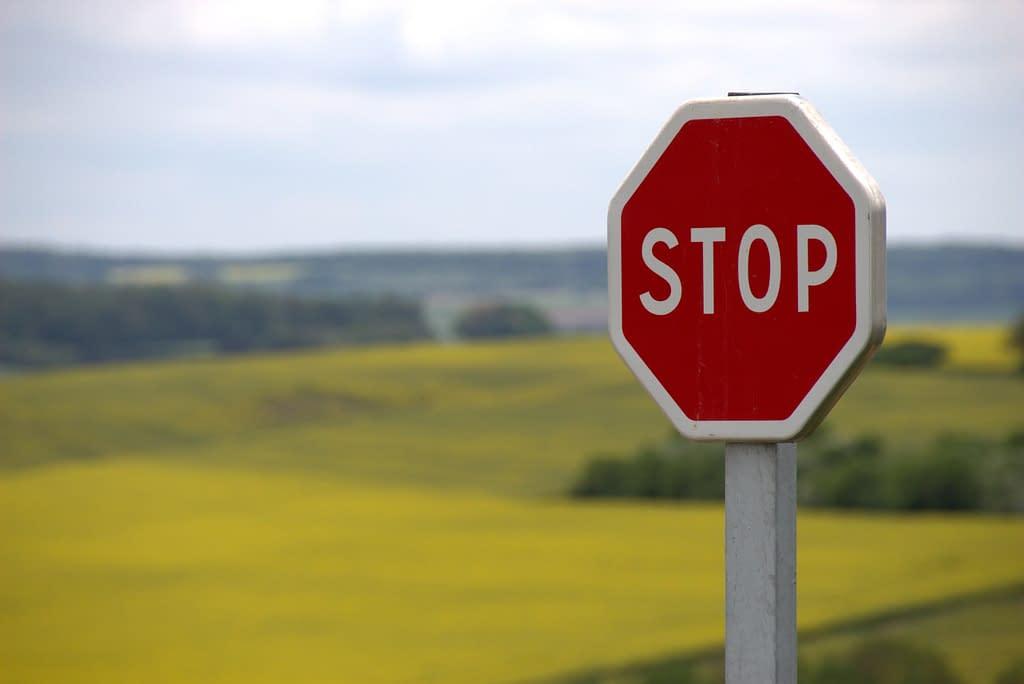 stop sign to set boundaries