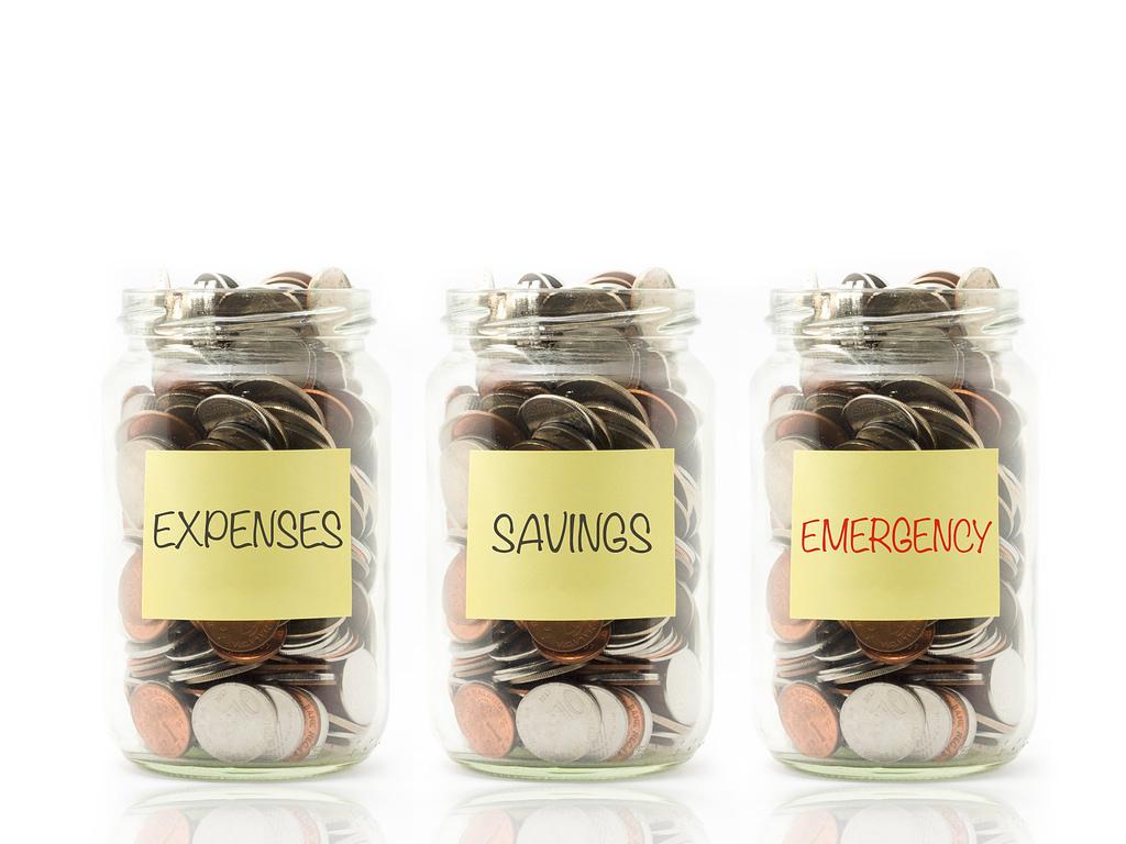 Emergency fund jars